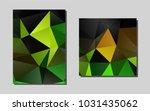 dark green  yellowvector layout ...