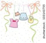 baby clothes   Shutterstock .eps vector #103143755