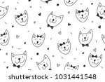 smile cats faces pattern ...   Shutterstock .eps vector #1031441548