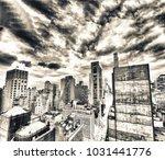 new york city  usa. amazing... | Shutterstock . vector #1031441776