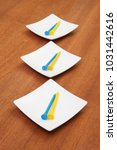 ceramic bowls for sushi food... | Shutterstock . vector #1031442616