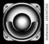 stylish vector monochrome... | Shutterstock .eps vector #1031447242