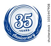 35 years anniversary.... | Shutterstock .eps vector #1031447908