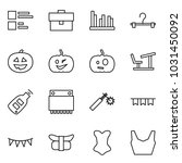 flat vector icon set   comments ... | Shutterstock .eps vector #1031450092