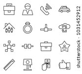 flat vector icon set  ... | Shutterstock .eps vector #1031452912