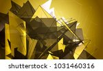 polygonal gold mosaic...   Shutterstock . vector #1031460316