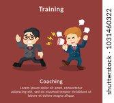 training coaching description | Shutterstock .eps vector #1031460322