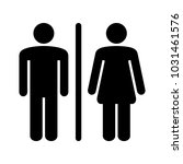 male and female icon vector | Shutterstock .eps vector #1031461576
