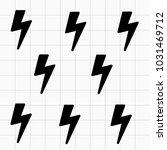 black thunder pattern | Shutterstock . vector #1031469712