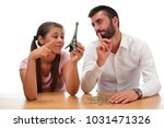 beautiful couple saving money...   Shutterstock . vector #1031471326