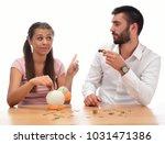 beautiful couple saving money...   Shutterstock . vector #1031471386