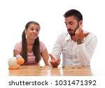 beautiful couple saving money...   Shutterstock . vector #1031471392