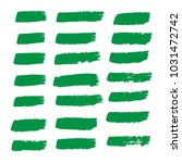 set of hand painted organic... | Shutterstock .eps vector #1031472742
