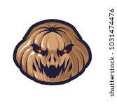 pumkin head e sport logo | Shutterstock .eps vector #1031474476