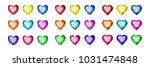 a set of gems in the shape of a ...   Shutterstock .eps vector #1031474848