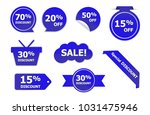 set of blue sale stickers. blue ... | Shutterstock .eps vector #1031475946