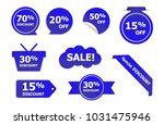 set of blue sale stickers. blue ... | Shutterstock .eps vector #1031475946