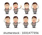 cute people   businessman set  | Shutterstock .eps vector #1031477356