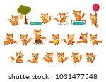 cute fox cub character doing... | Shutterstock .eps vector #1031477548