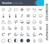 weather line icon set   sun ... | Shutterstock .eps vector #1031480248