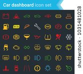 colorful car dashboard...   Shutterstock .eps vector #1031481028