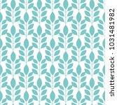 symmetrical seamless floral... | Shutterstock .eps vector #1031481982