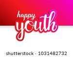 youth day. 12 august. happy... | Shutterstock .eps vector #1031482732