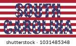 South Carolina On Usa Flag