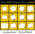 a set of templates for quotes... | Shutterstock .eps vector #1031495842