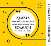 vectors quote.  always  forgive ... | Shutterstock .eps vector #1031495845