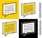 vectors quote.  it does not... | Shutterstock .eps vector #1031495848