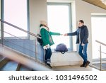 couple of the travellers in... | Shutterstock . vector #1031496502