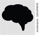 brain  black brain  vector | Shutterstock .eps vector #1031498932