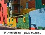 colorful area in la boca... | Shutterstock . vector #1031502862