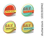 sale special offer icon set... | Shutterstock .eps vector #1031503942