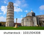 pisa tower. spring time  italy | Shutterstock . vector #1031504308