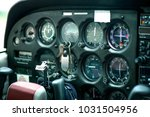 detail of old airplane cockpit. ... | Shutterstock . vector #1031504956