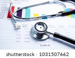 stethoscope  charts and graphs...   Shutterstock . vector #1031507662