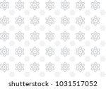 thai flower art seamless... | Shutterstock .eps vector #1031517052