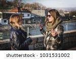 two beautiful two beautiful... | Shutterstock . vector #1031531002