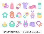 toys and accessories for baby... | Shutterstock .eps vector #1031536168