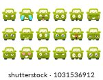 cute green car cartoon... | Shutterstock .eps vector #1031536912