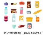 common everyday grocery... | Shutterstock .eps vector #1031536966