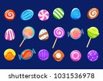 candies sett  glossy sweets of...   Shutterstock .eps vector #1031536978