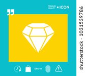 diamond sign. jewelry symbol.... | Shutterstock .eps vector #1031539786