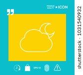 cloud moon line icon | Shutterstock .eps vector #1031540932