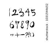 vector fonts   handwritten... | Shutterstock .eps vector #1031544652
