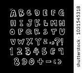 vector fonts   handwritten... | Shutterstock .eps vector #1031545318
