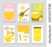 honey and ginger design concept ... | Shutterstock .eps vector #1031547238