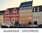 nyhavn in denmark  home of hans ... | Shutterstock . vector #1031548102